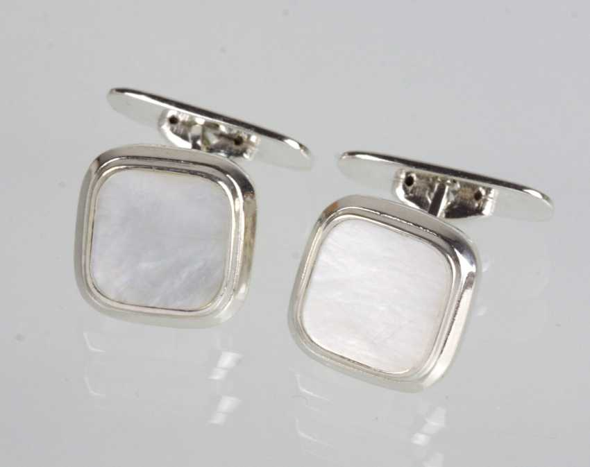 Mother-Of-Pearl Cufflinks - Silver 835 - photo 1