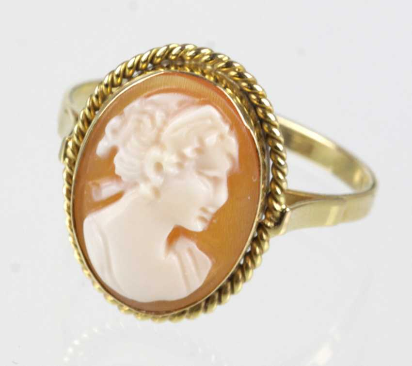 Gems Ring Yellow Gold 585 - photo 1