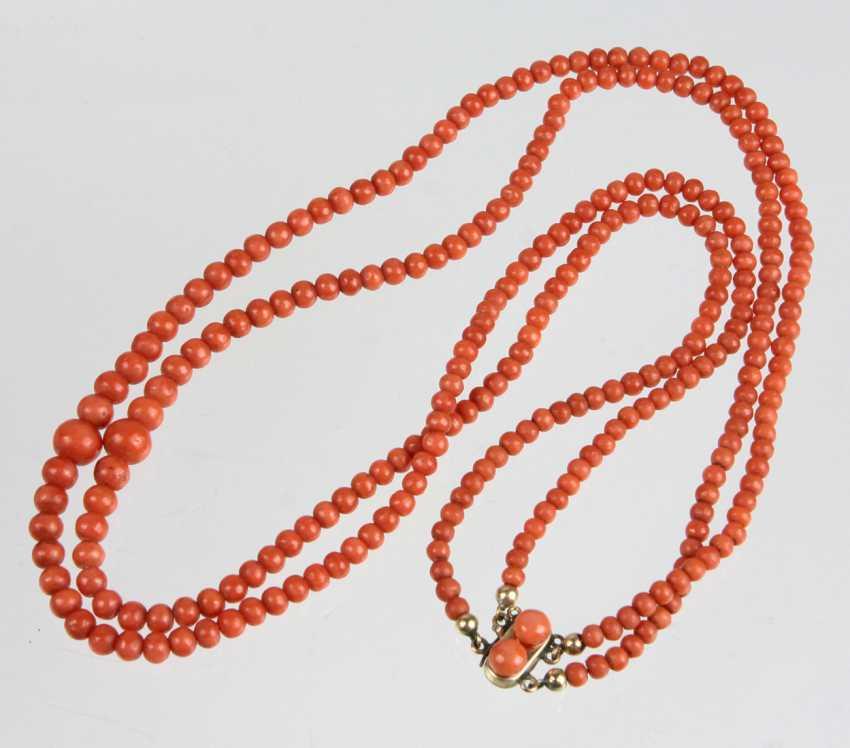 Biedermeier coral necklace circa 1840 - photo 1
