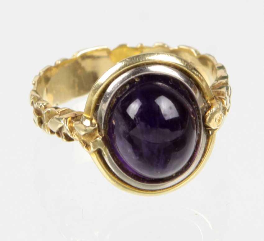 Amethyst Ring Yellow Gold 585 - photo 1
