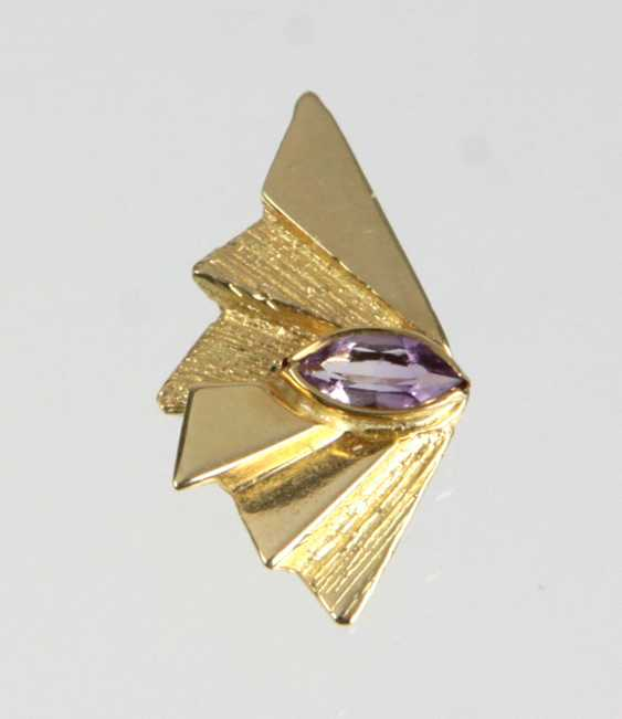 Pendant with Amethyst - yellow gold 585 - photo 1