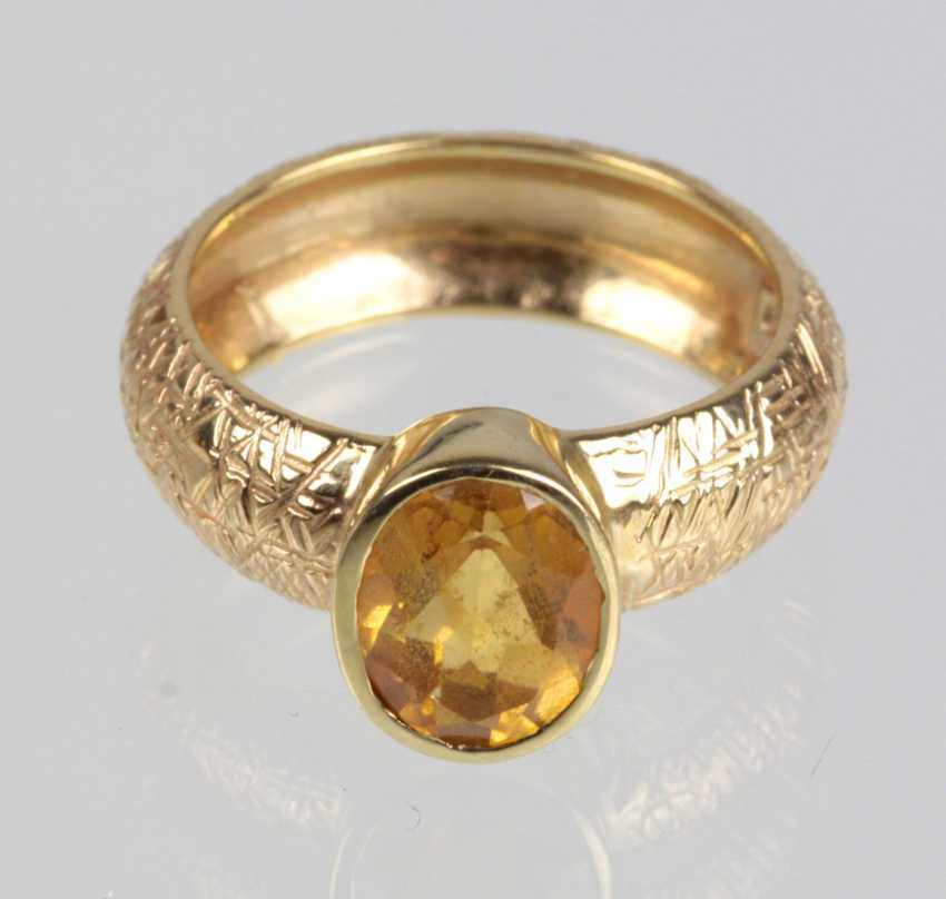 Citrine Ring - Yellow Gold 375 - photo 1
