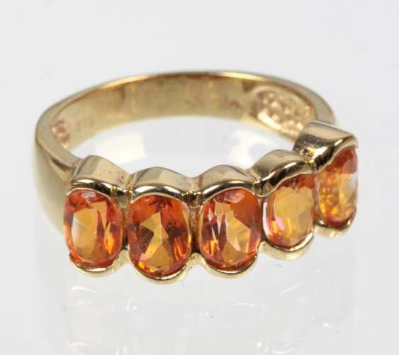 Mandarin Topaz Ring Yellow Gold 375 - photo 1