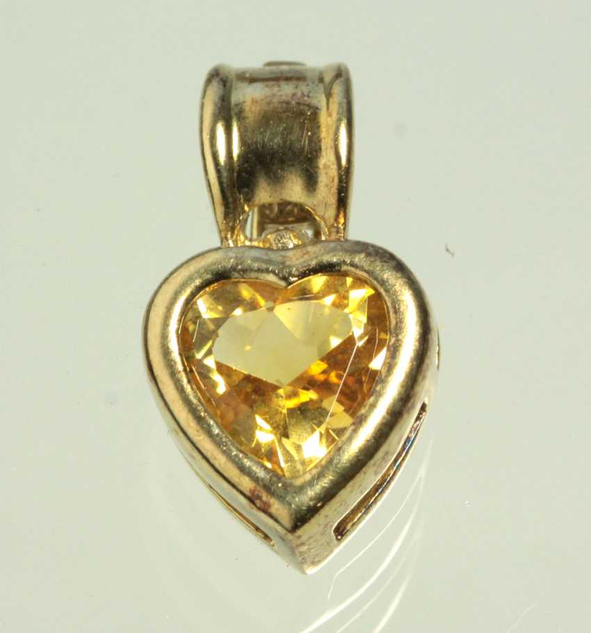 Citrine Heart Pendant - photo 1