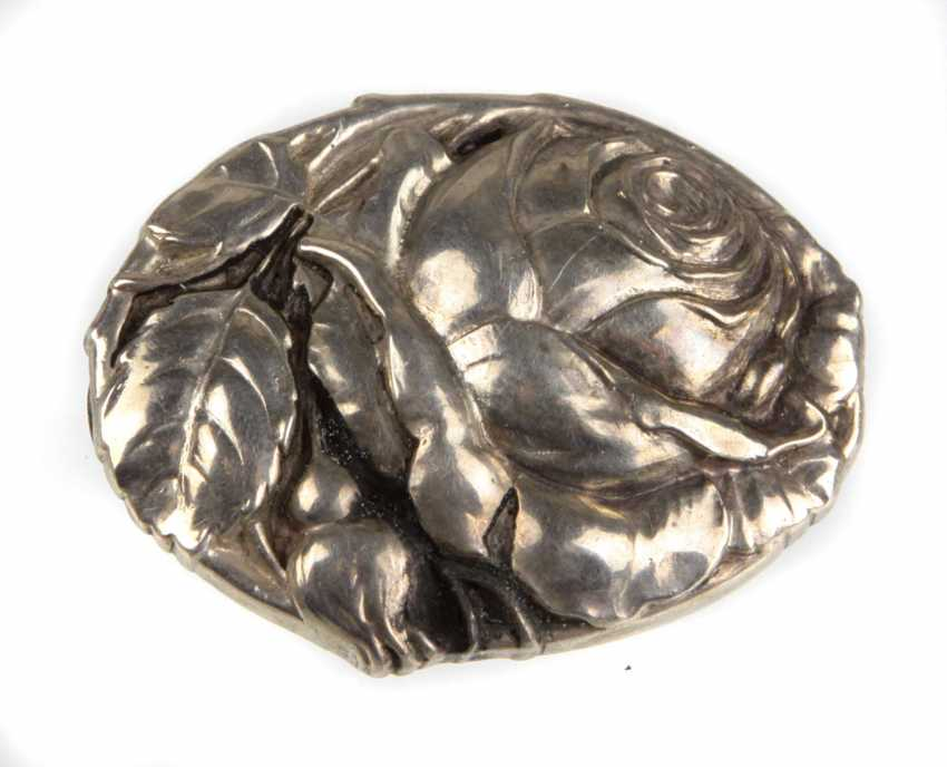 Art Nouveau Style Silver Brooch - photo 1
