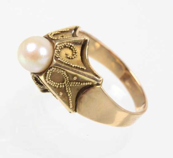 Akoya Perl Ring - Gelbgold 585 - photo 1