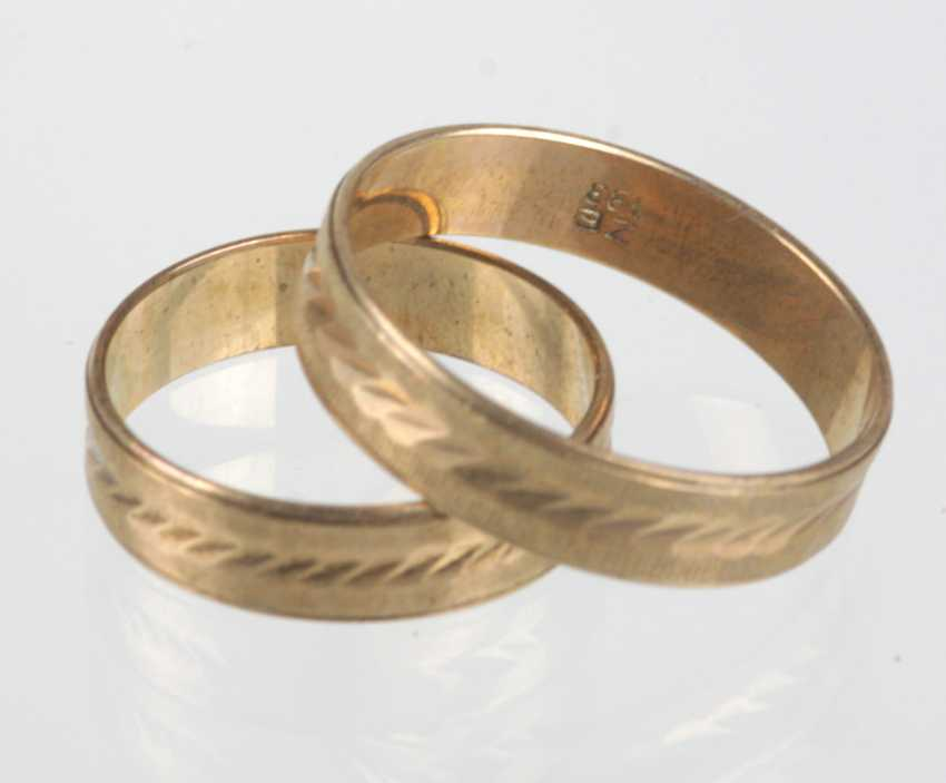 Pair Of Wedding Rings - Yellow Gold 333 - photo 1