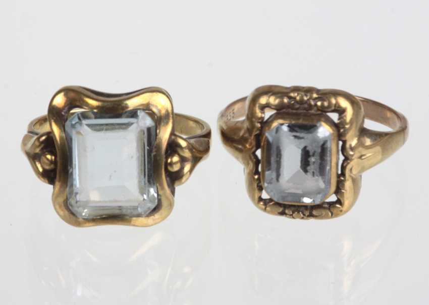 2 ladies ring with trim - yellow gold 333 - photo 1