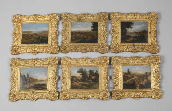 Six lacquer paintings Stobwasser, attributed to - photo 1