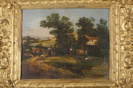 Six lacquer paintings Stobwasser, attributed to - photo 2