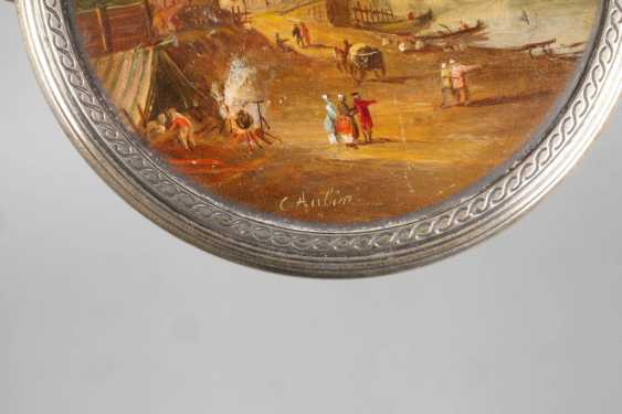 Silver box with miniature painting - photo 3