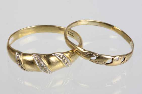 2 Ladies Rings - Yellow Gold 333 - photo 1