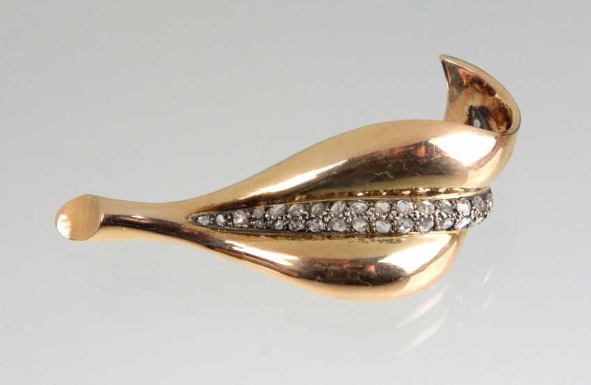Diamond Brooch Yellow Gold 750 - photo 1