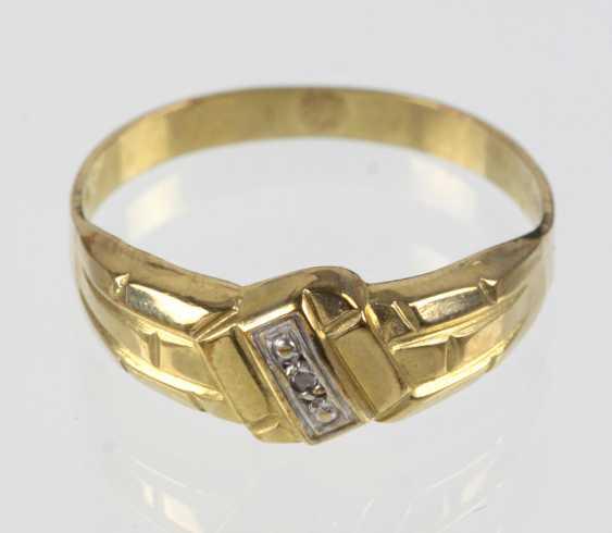 Diamant Ring - Gelbgold 333 - photo 1