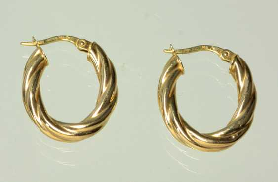 Golden Hoop earrings - yellow gold 333 - photo 1