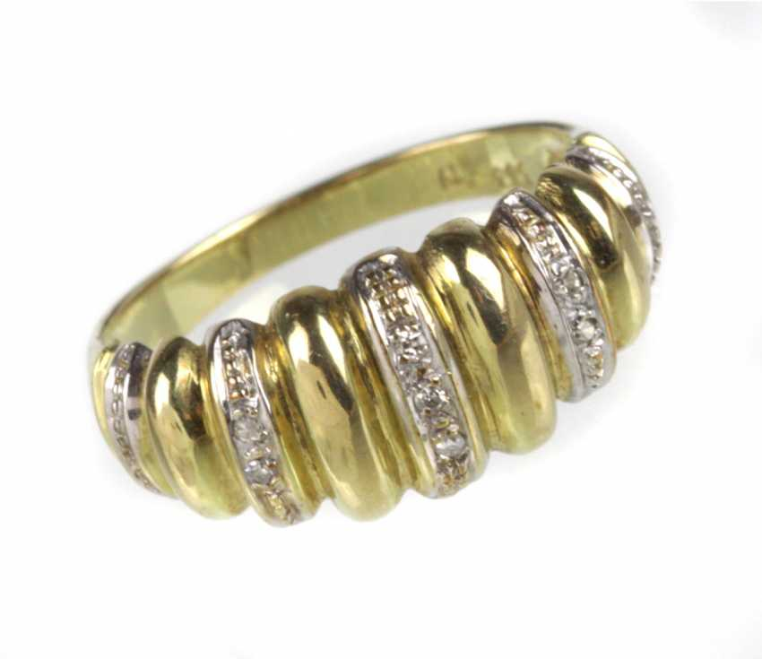 Diamond Ring - Yellow Gold/White Gold 333 - photo 1