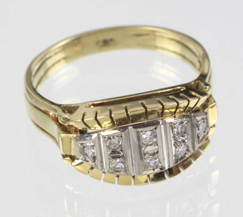Art Deco Diamond Ring - Yellow Gold/White Gold 585 - photo 1