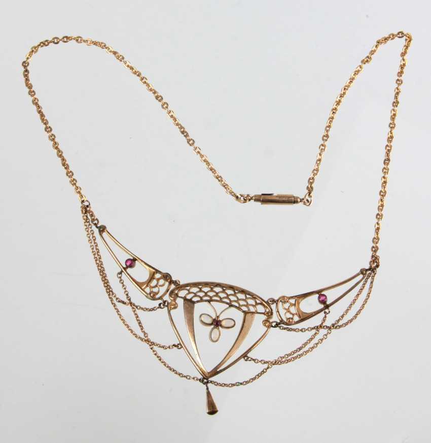 Art Nouveau necklace with Opal - photo 1