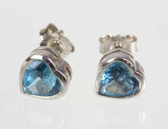 Switzerland Blue Topaz Silver Earring - photo 1