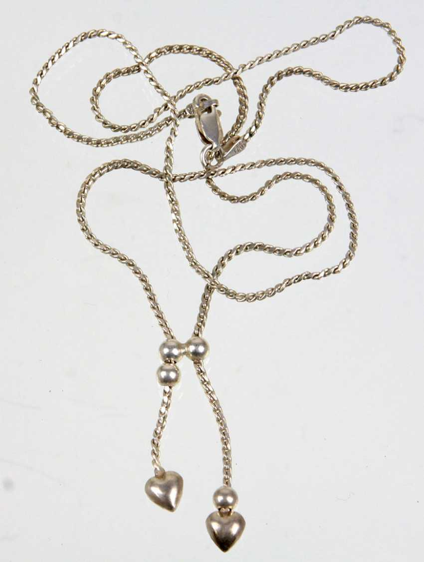 Silver chain with heart - photo 1