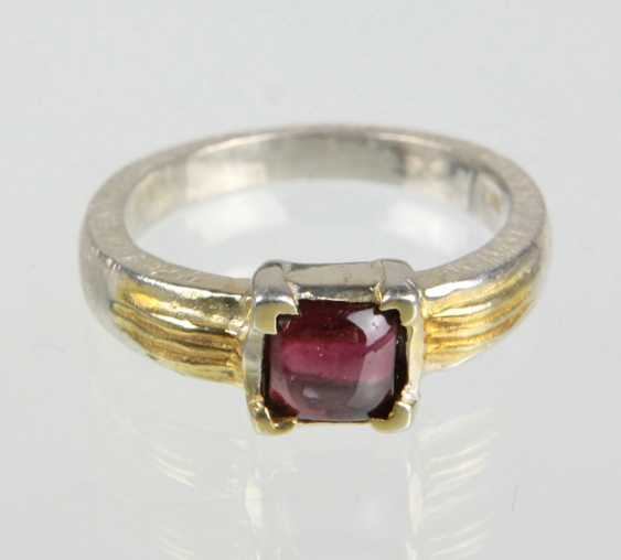 silberner Granat Ring - photo 1