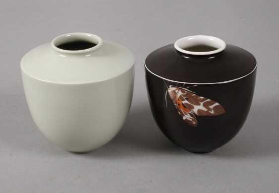 "KPM Berlin Pair of vases ""Little bear"" - photo 1"