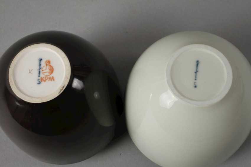 "KPM Berlin Pair of vases ""Little bear"" - photo 3"