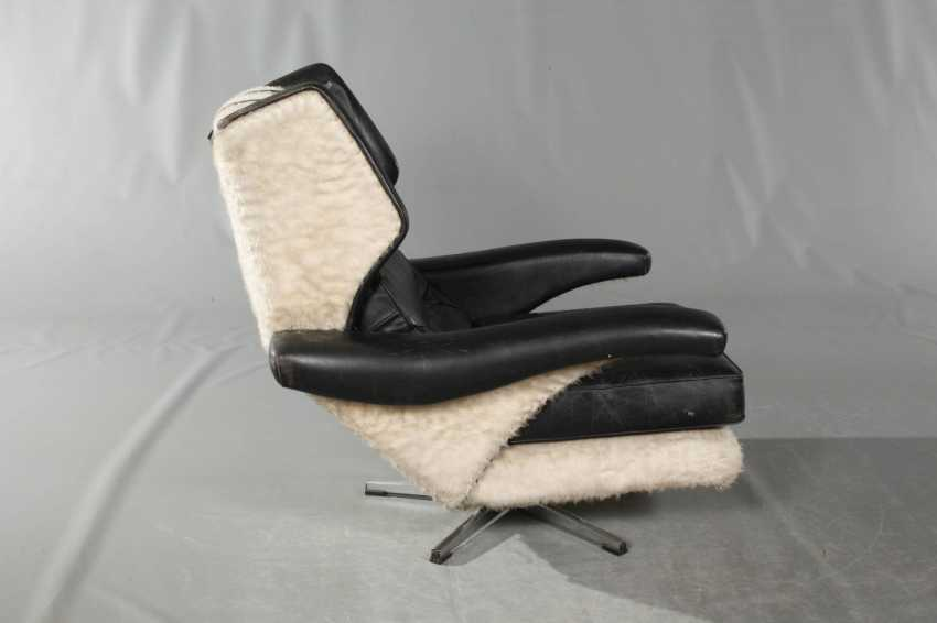 Pair Of Swivel Chairs Leather - photo 2