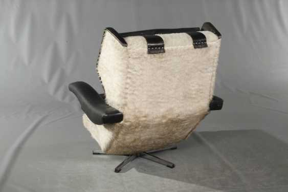 Pair Of Swivel Chairs Leather - photo 3