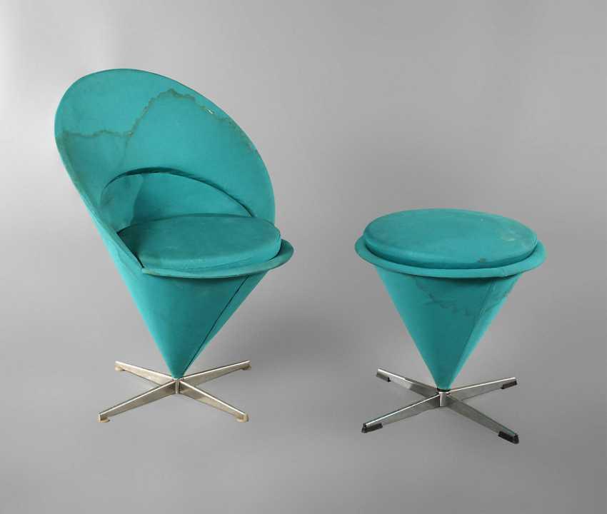 Chair and stool Verner Panton - photo 1