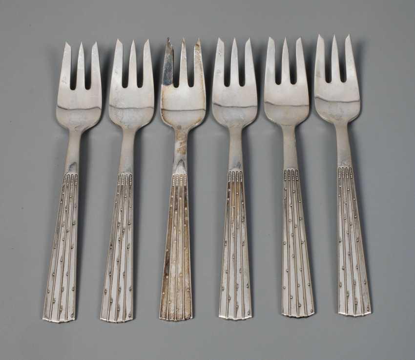 Jens H. Quistgaard six cake forks - photo 1