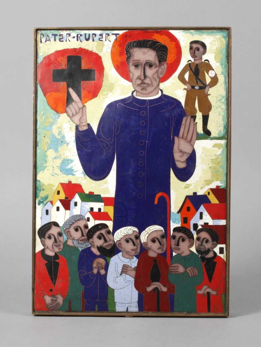 Emailleplatte Pater Rupert Mayer - photo 1