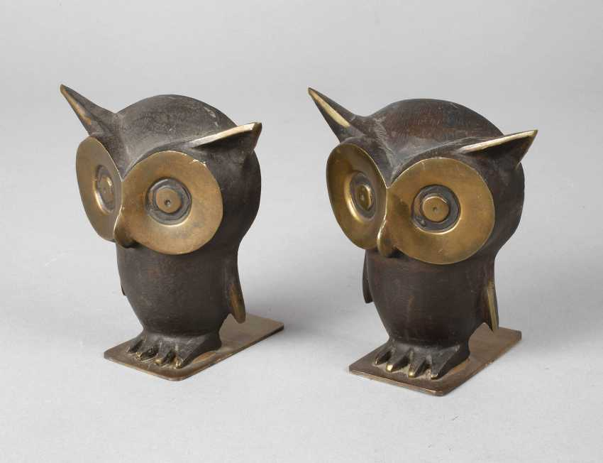 Pair of bookends as an owl's - photo 1