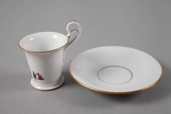 Meissen anniversary Cup with a railroad motif - photo 2