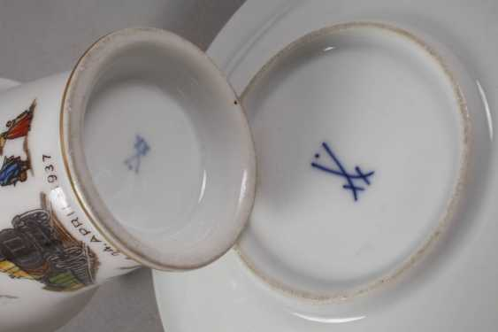 Meissen anniversary Cup with a railroad motif - photo 3