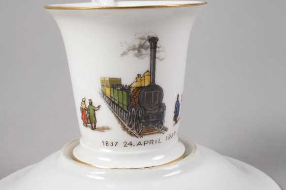 Meissen anniversary Cup with a railroad motif - photo 4