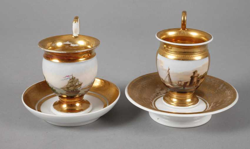 Two collector's cups with kauffahrtei scene - photo 1