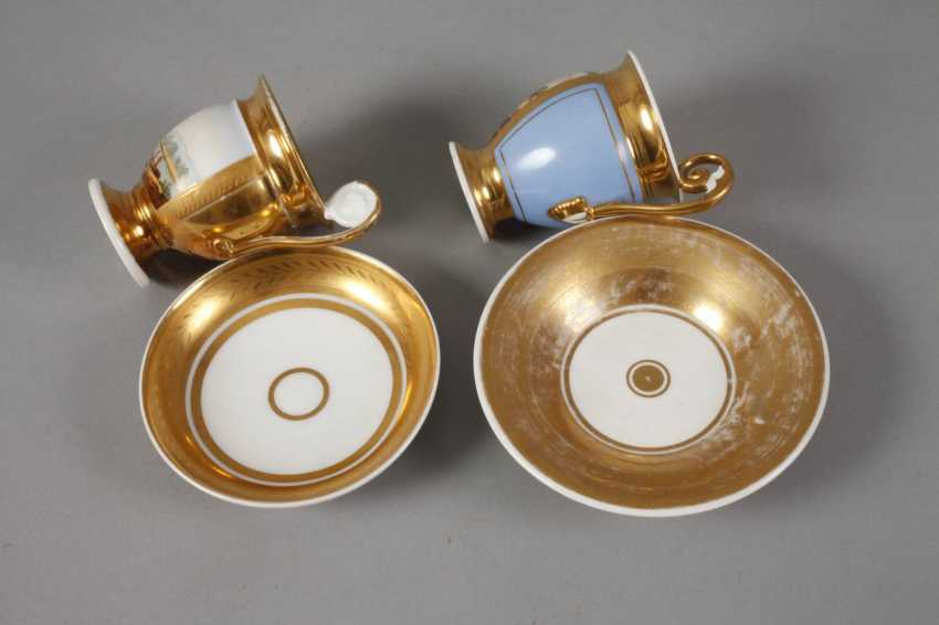 Two collector's cups with kauffahrtei scene - photo 2