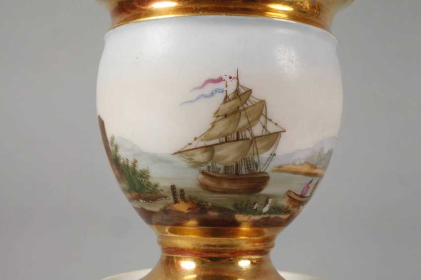 Two collector's cups with kauffahrtei scene - photo 4