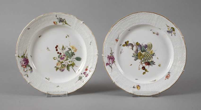 Frankenthal Pair Of Plate 18. Century - photo 1