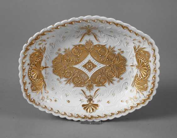 Meissen sumptuous dish with relief decoration - photo 1