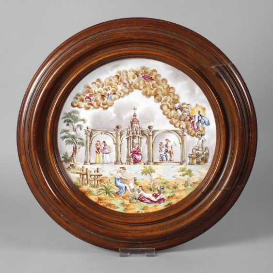 Large wall plate, Capodimonte style - photo 1