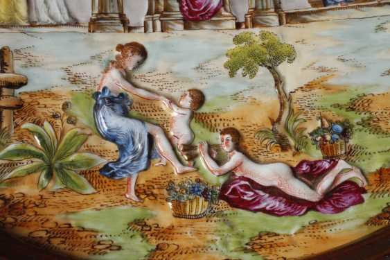 Large wall plate, Capodimonte style - photo 5