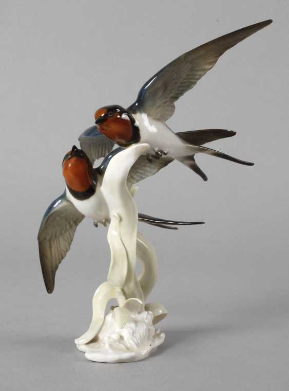 """Hutschenreuther """"swallows in flight"""" - photo 1"""
