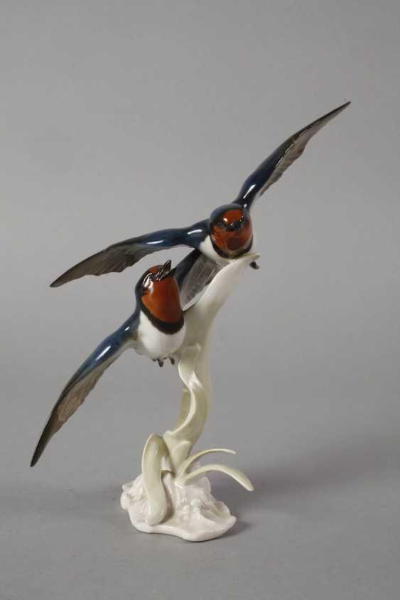 """Hutschenreuther """"swallows in flight"""" - photo 3"""