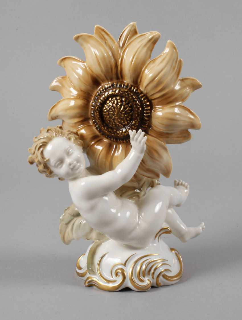 "Hutschenreuther ""child with a sun flower"" - photo 1"