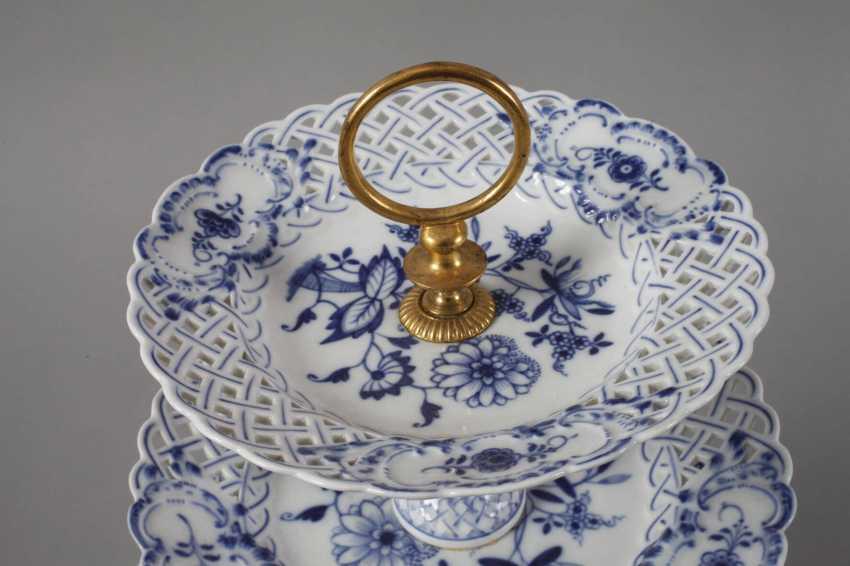 """Meissen Centrepiece """"Onion Pattern"""" - photo 2"""