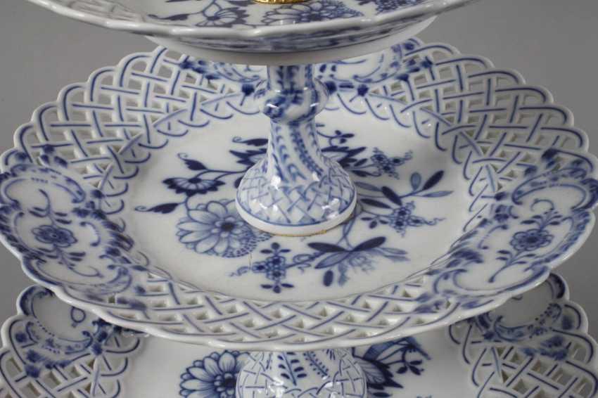 """Meissen Centrepiece """"Onion Pattern"""" - photo 3"""