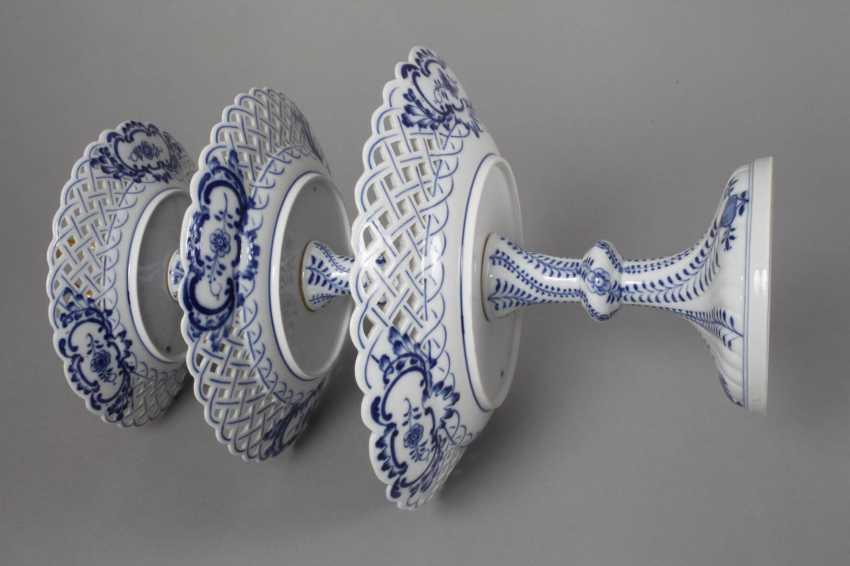 """Meissen Centrepiece """"Onion Pattern"""" - photo 5"""