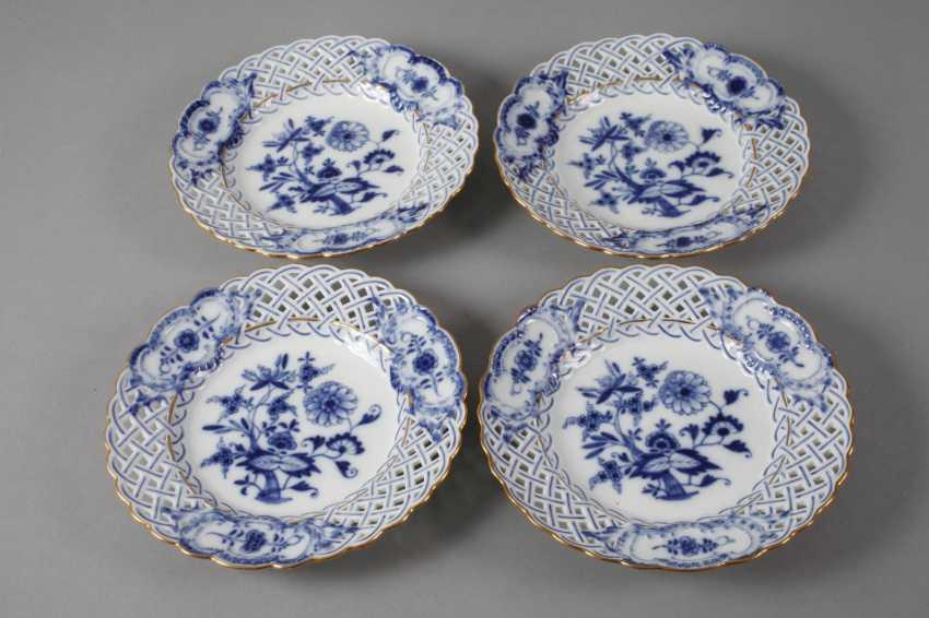 "Meissen four breakthrough dish ""onion""pattern - photo 3"